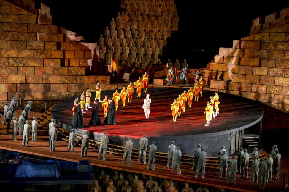 'Turandot' Rehearsal For Bregenz Festival