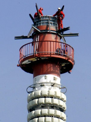 Bauarbeiten am Fernsehturm