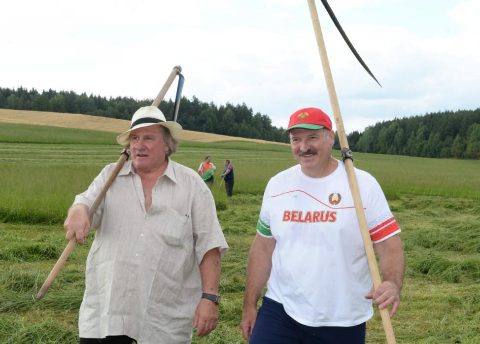 French actor Gerard Depardieu visits Belarus