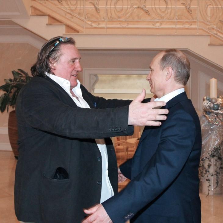 Gerard Depardieu meets with Vladimir Putin