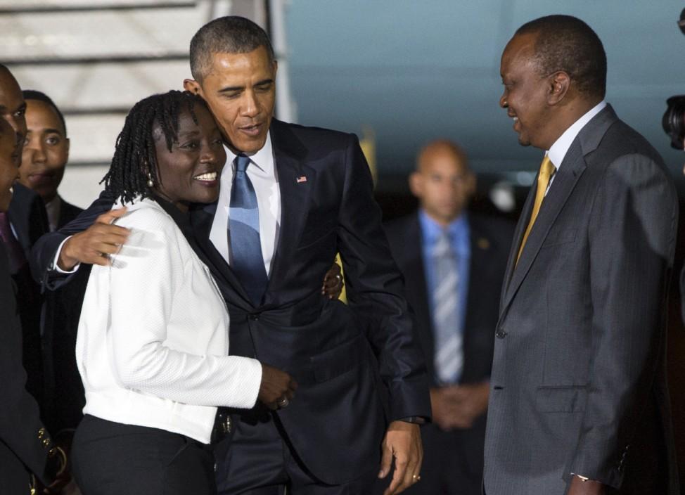 Barack Obama, Auma Obama, Uhuru Kenyatta