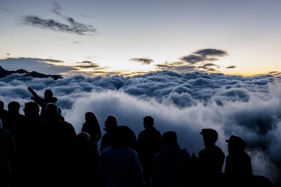 Sunrise on Eggishorn mountain