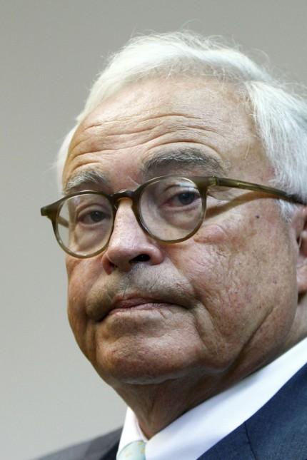 Former Deutsche Bank CEO Breuer arrives in courtroom in Munich
