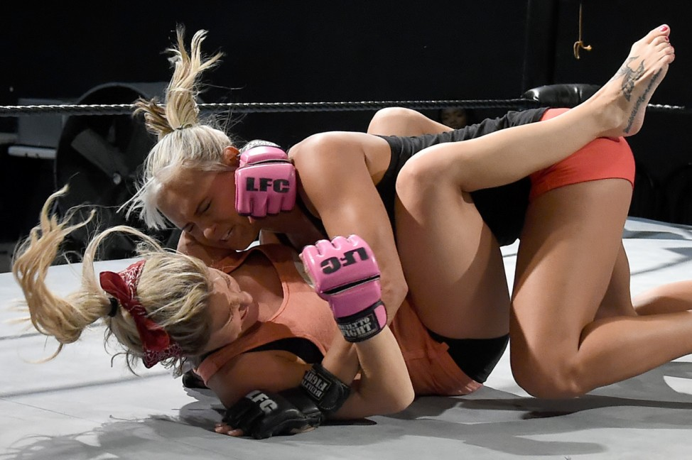 Lingerie Fighting Championships Training Session