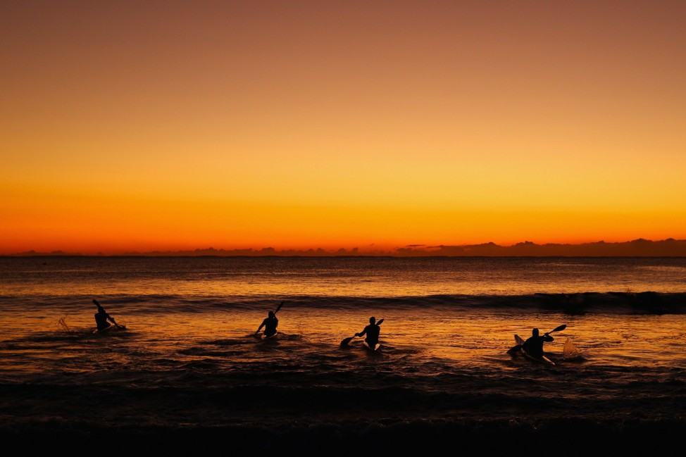 Ocean Paddlers Training In Manly
