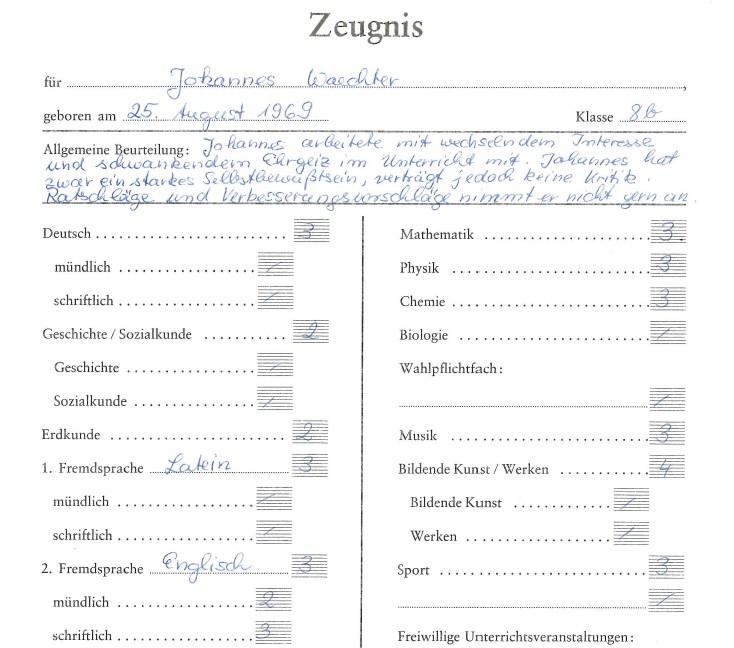 Schulzeugnisse von SZ-Mitarbeitern
