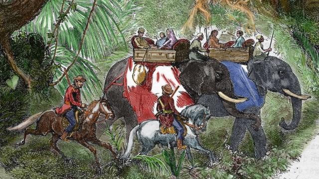 India. Sepoy Rebellion (1857). English delegation.