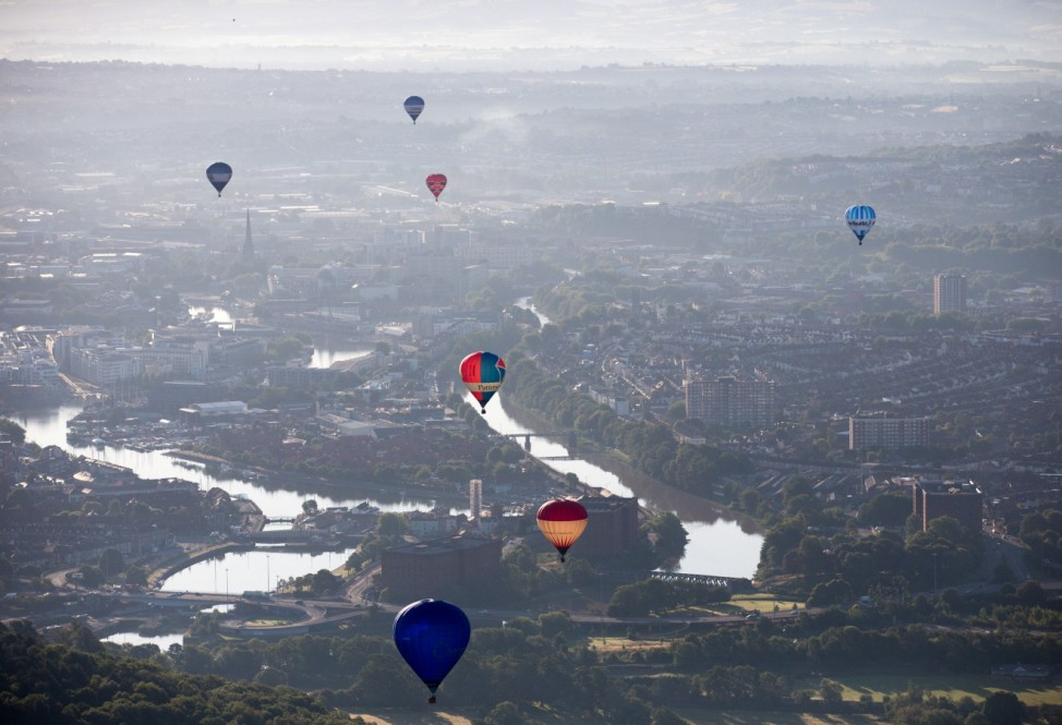 Balloonists Take To The Skies Ahead Of The Bristol International  Balloon Fiesta