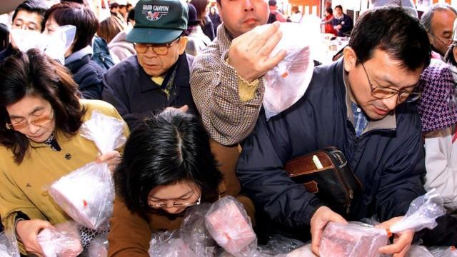Thunfisch-Verkauf in Japan