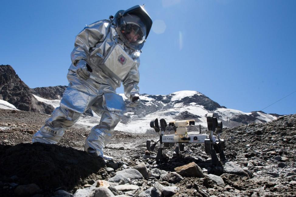 Mars field simulation AMADEE 15 in Austria