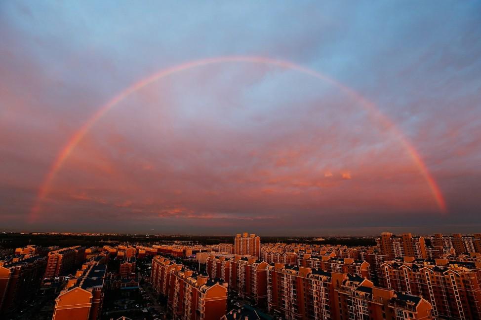 Rainbow Appears In Beijing