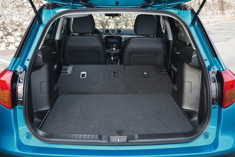 Der Kofferraum des Suzuki Vitara.
