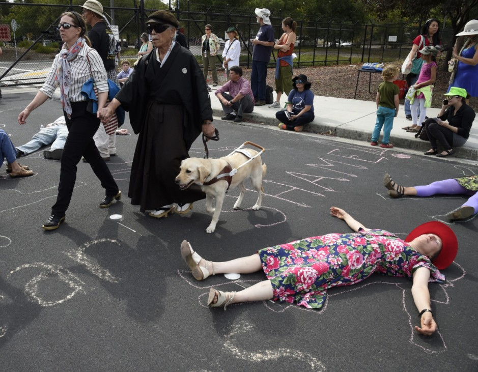 70th Anniversary of Hiroshima rally at Lawrence Livermore Nationa