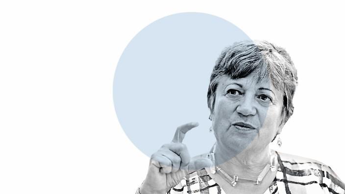 """Nahaufnahme: """"Es geht nicht um eine etwas bessere Version der Welt, die wir jetzt haben - es geht darum, keinen zerstörten Planeten zu hinterlassen."""" Mary Nichols."""