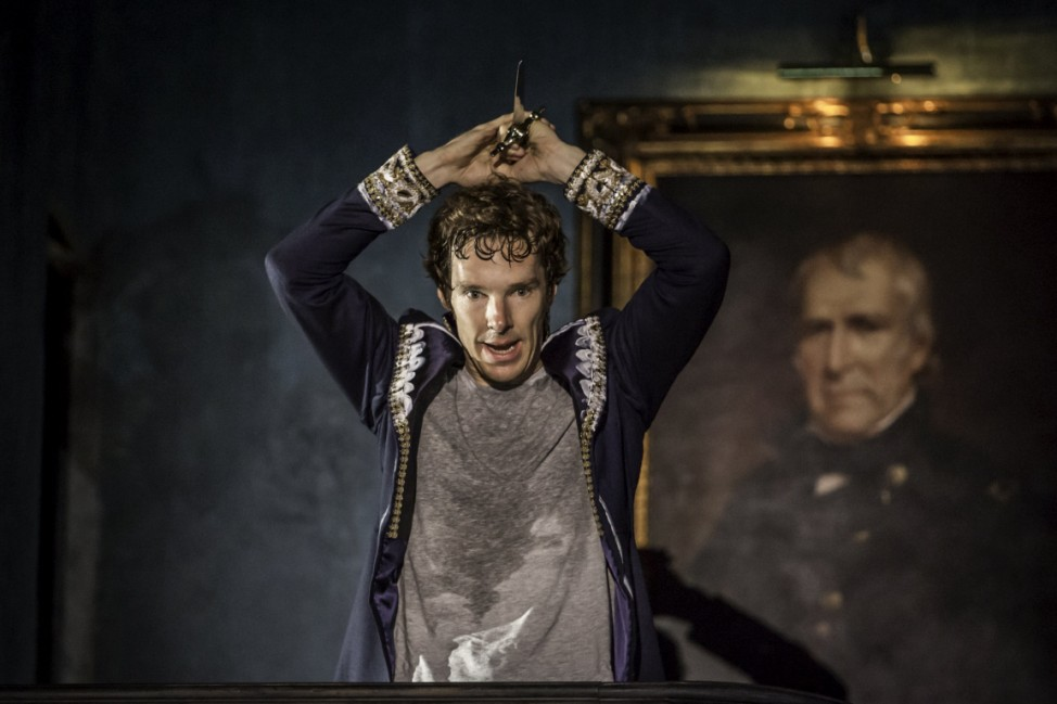 Actor Benedict Cumberbatch performs in Director Lyndsey Turner's production of Hamlet at the Barbican, in London