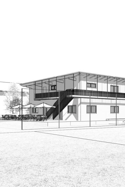 Sportheim Kirchseeon, Entwurf