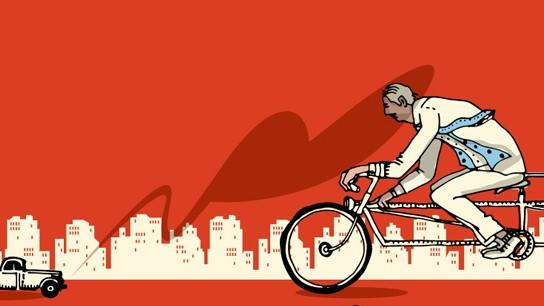 Illustration Fahrradfahren