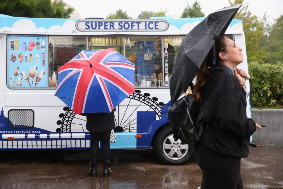 Heavy Rain Sweeps Across Britain