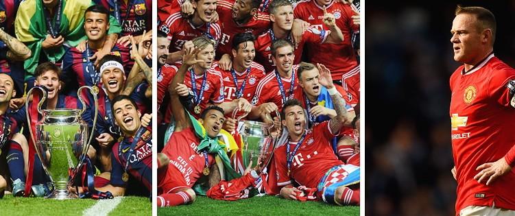 Fußballligen Europa Bayern Barcelona Manchster United