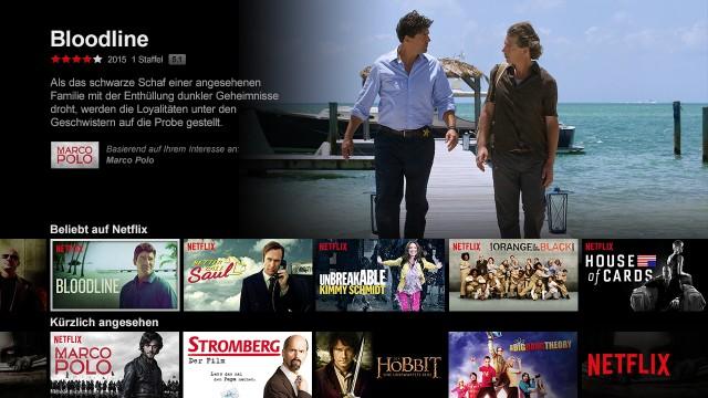 Screenshots für Streaming-Dienste Test BiGa