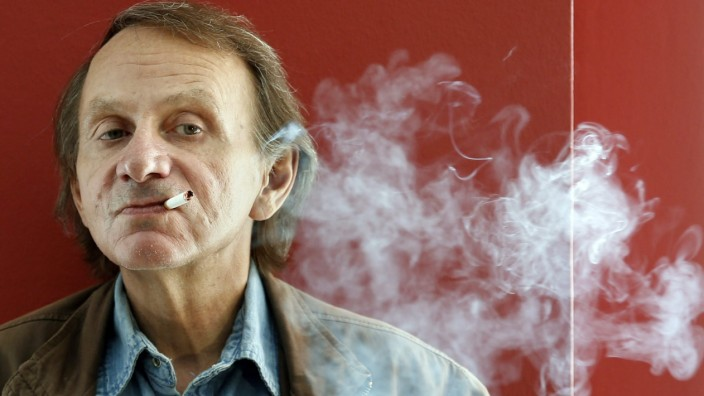 French author Michel Houellebecq presents