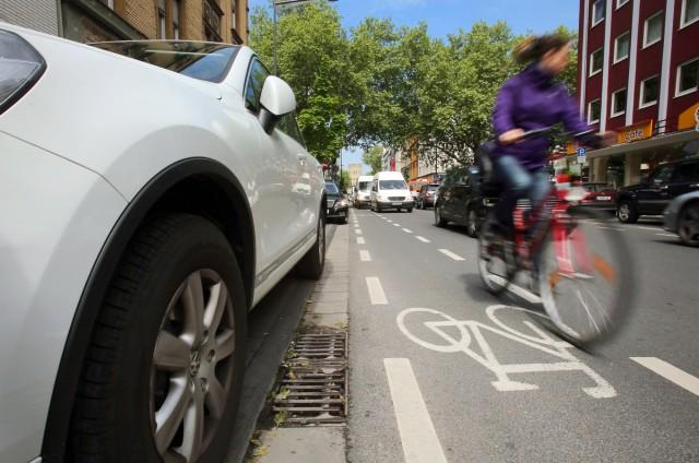 Radfahrer in Köln