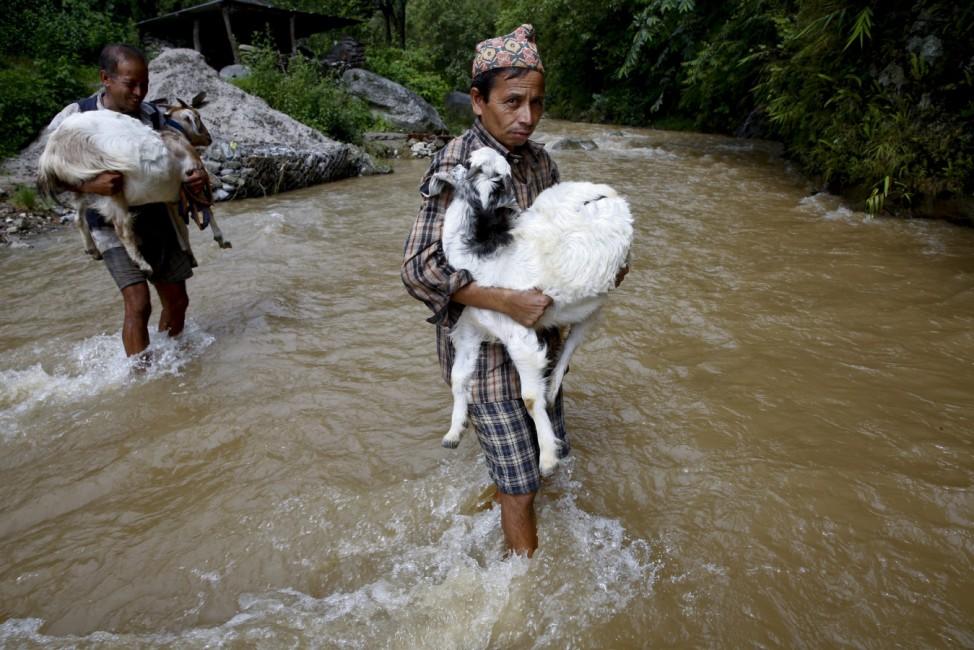Monsoon waters in Nepal