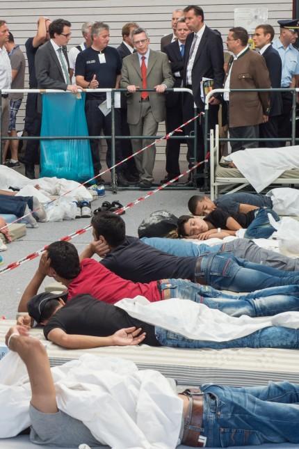 'Bearbeitungsstraße' der Bundespolizei für Flüchtlinge