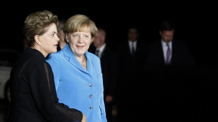 Angela Merkel bei Dilma Rousseff in Brasilien