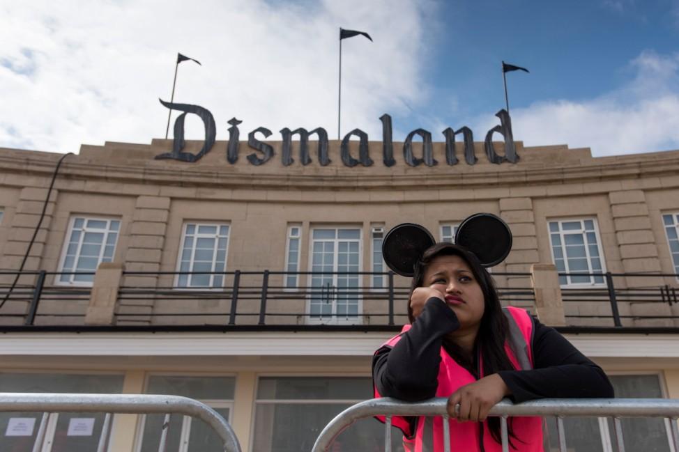 BESTPIX Banksy Unveils Dismaland Bemusement Park In Weston-Super-Mare