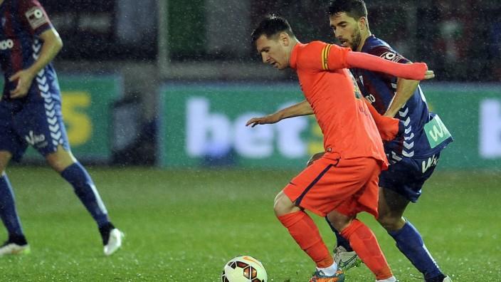 LIGA BBVA EIBAR SD FC BARCELONA BARCA Lionel Messi PUBLICATIONxINxGERxSUIxAUTxHUNxONLY; SD Eibar FC Barcelona