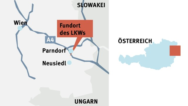 Tote Flüchtlinge in Österreich: undefined