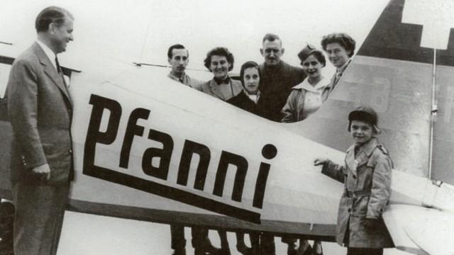 Ehemaliges Pfanni-Gelände am Ostbahnhof: Pfanni über den Wolken: Die Firma setzte darauf, ihren Schriftzug überall unter zu bekommen.