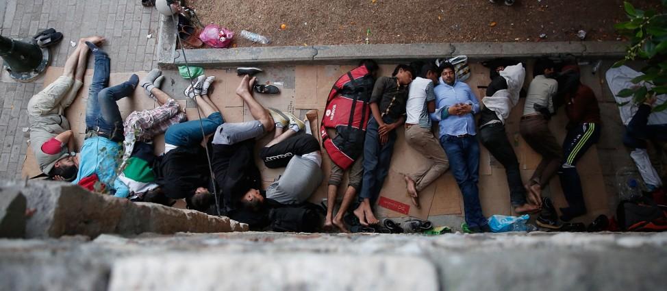 Migrants Begin Their Journey Through Europe In Kos