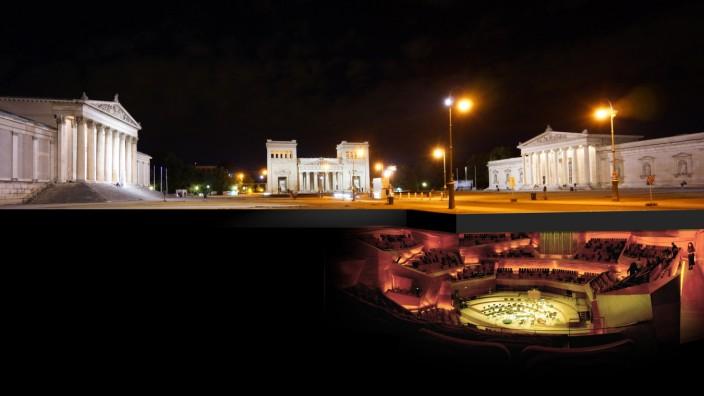 Königsplatz Konzertsaal Plan für unterirdische Philharmonie