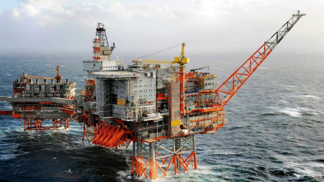 General view of Bp's offshore platforms in Valhall