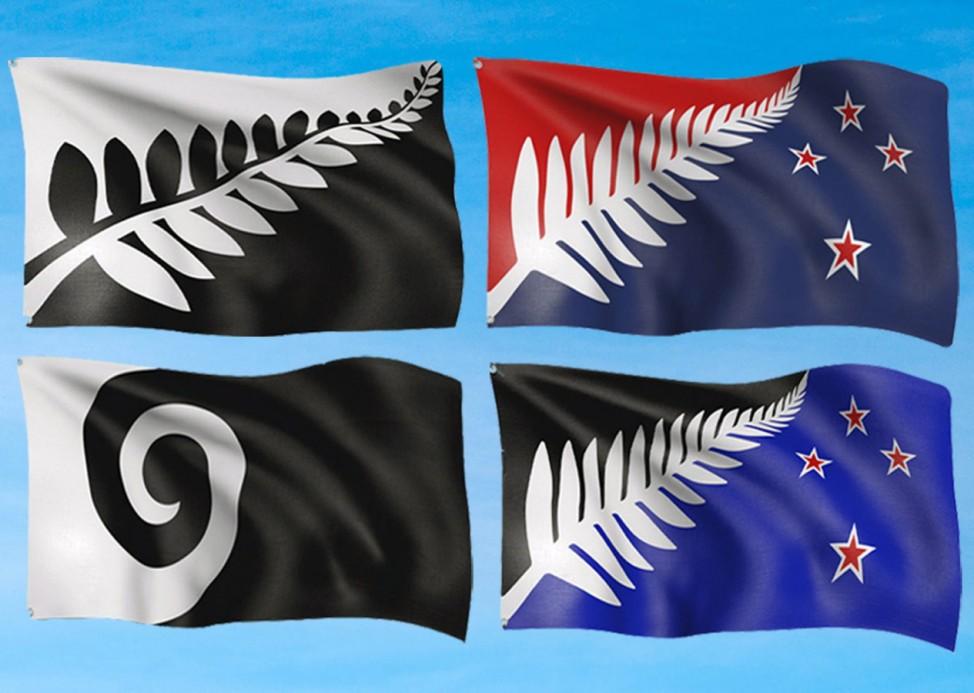 Neuseeland sucht neue Flagge, die vier finalen Desings