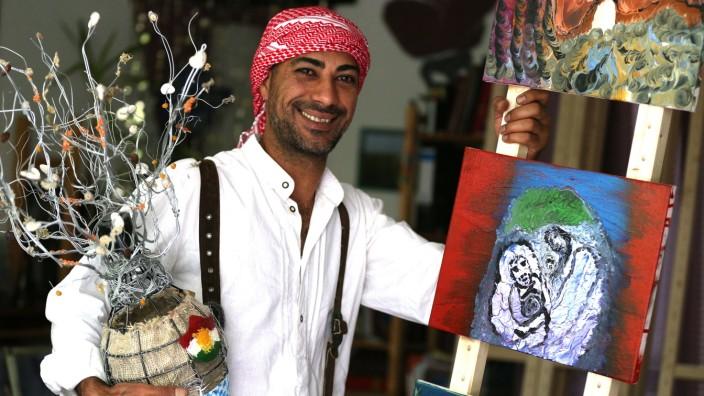 Unterföhring: Zuheir Darwish lebt und arbeitet in Unterföhring. Dort sind auch seine Bilder zu sehen.