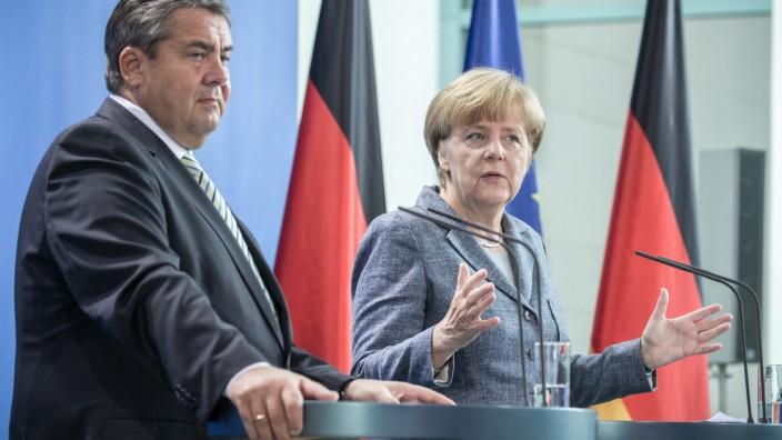 Merkel und Gabriel nach Koalitonsausschuss