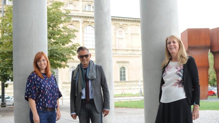 Maxvorstadt: Ein starkes Team: Adele Kohout, Guido Redlich und Alexandra von Arnim (von links) freuen sich auf die gemeinsame Arbeit für das Kunstareal.