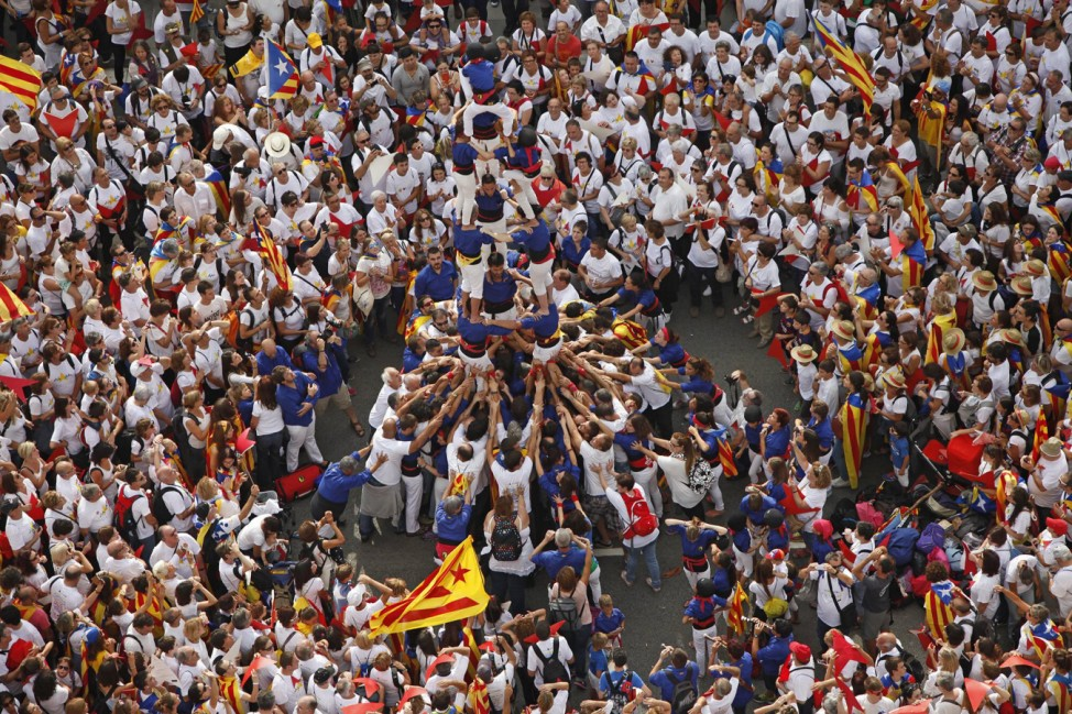 Sept 11 2015 Barcelona Catalonia Spain Barcelona Spain Approximately two million pro inde