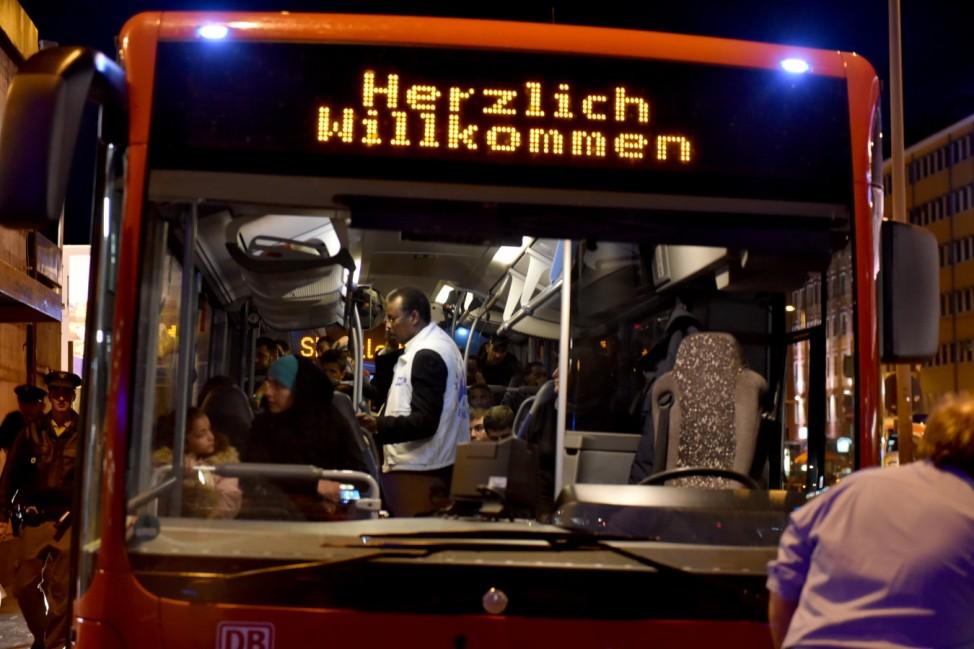 HBF München Ankunft der Flüchtlinge