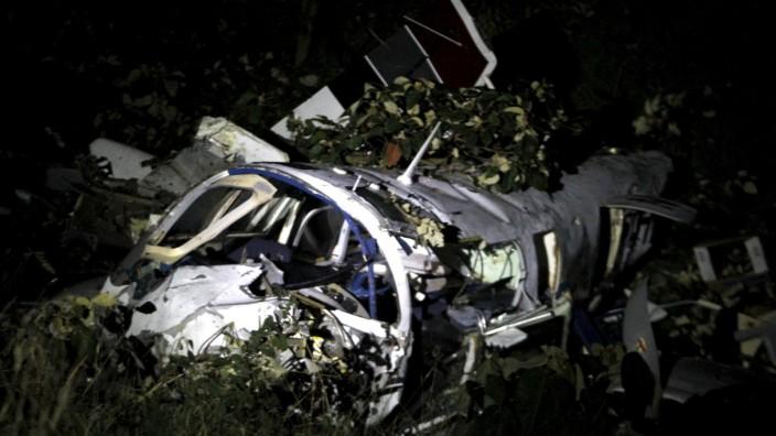 Abgestürztes Flugzeug