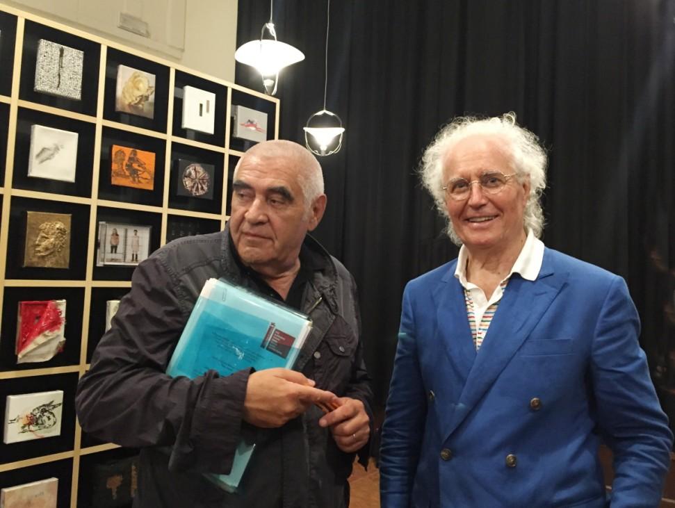 Peter Noever (links) und Luciano Benetton.