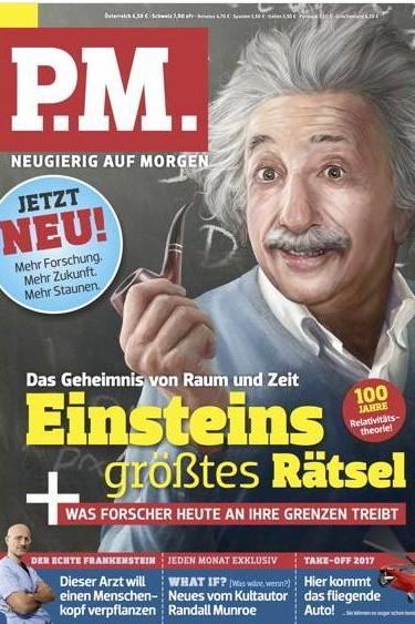 Wissensmagazin: Mehr Dinge von morgen? P.M.-Oktoberausgabe mit Einstein.