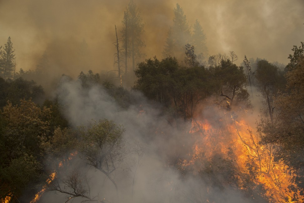 Butte Fire Southeast of Sacramento Continues to Burn and Threaten Homes