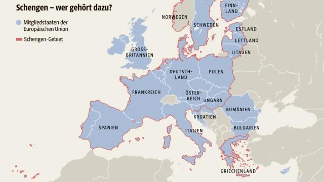 Grenzkontrollen in der EU: SZ-Karte; Quelle: Frontex