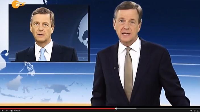 Satirevideo mit Claus Kleber: Moderator, und auch noch Rapper: Claus Kleber.