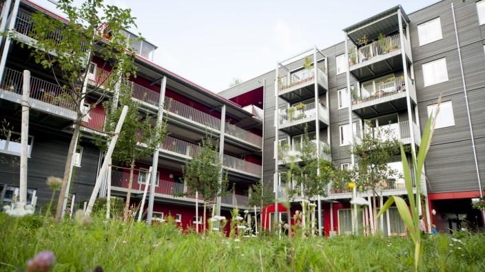 Bezahlbarer Wohnraum: Moderne genossenschaftliche Wohnungen bieten oft hohe Lebensqualität. Diese Anlage hier am Ackermannbogen wurde sogar mit einem Preis ausgezeichnet.