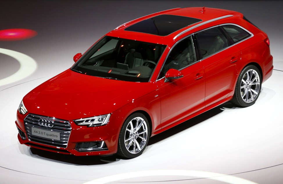 The new Audi A4 2.0 T quattro is presented during the Volkswagen group night ahead of the Frankfurt Motor Show (IAA) in Frankfurt